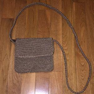 Small brown summer purse